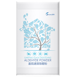 Quick acting aldehyde removing powder (edible grade)